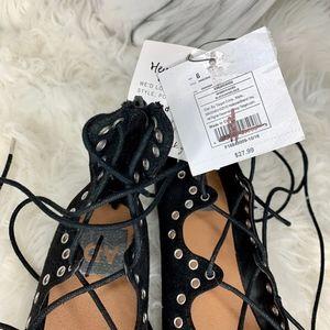 DV by Dolce Vita Shoes - NWT DV by Dolce Vita Lace Up Black Flats Size 6